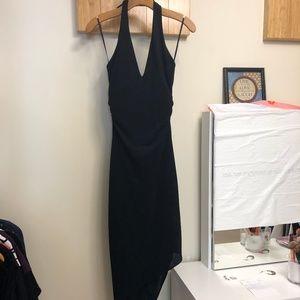 bebe Black Midi Dress, Size S